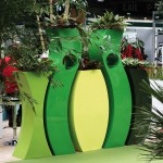 S C Sophia Planters with Aglaonema and Calathea Plants